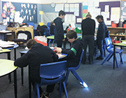 Kids are studying in Namadgi classroom