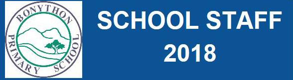 Bonython School Staff 2018