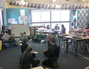 Kids are studying in Tidbinbilla classroom