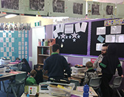 Kids are studying in Tidbinbilla classroom